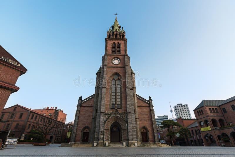 Catedral de Myeongdong imagens de stock royalty free