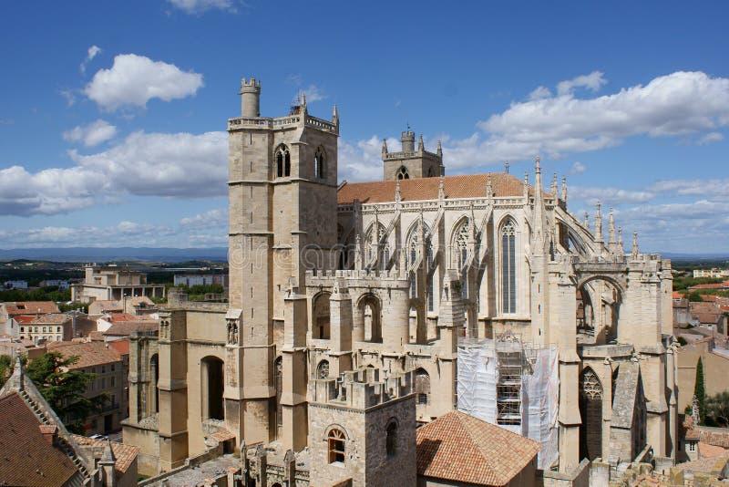 Catedral de Narbonne fotografia de stock