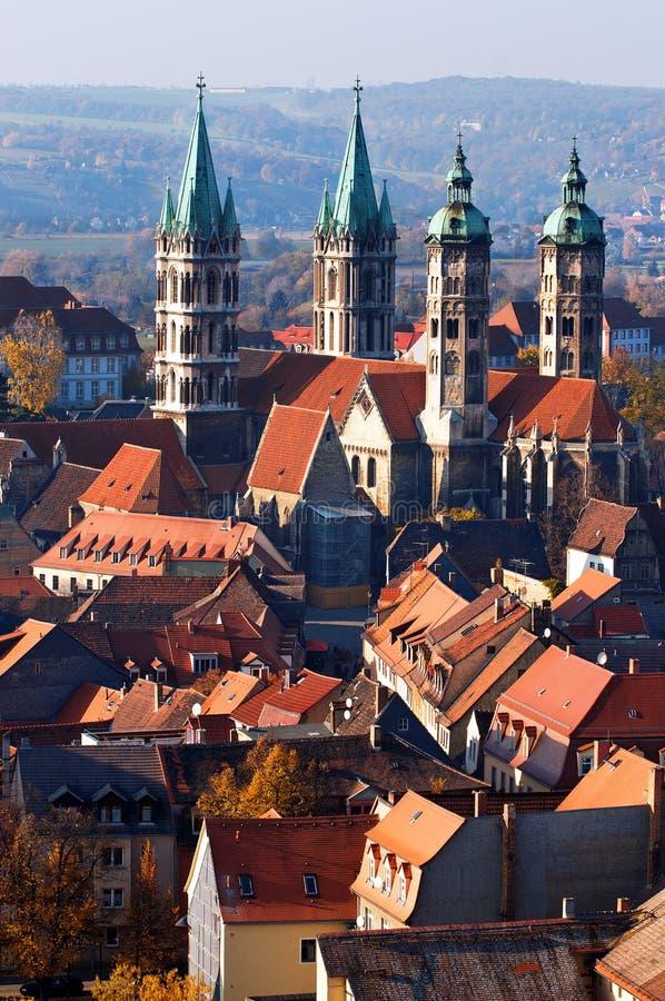 Catedral de Naumburg, Saxony-Anhalt, Alemanha fotografia de stock