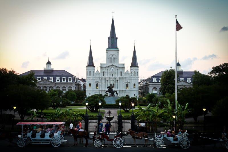 Catedral de New Orleans St. Louis imagen de archivo libre de regalías