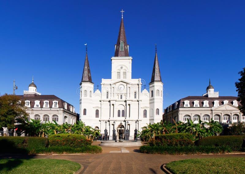 Catedral de New Orleans St. Louis imágenes de archivo libres de regalías