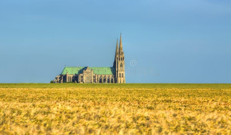 Catedral de nossa senhora de Chartres fotos de stock royalty free