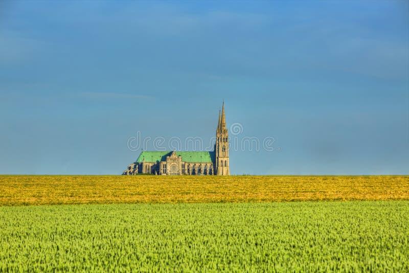 Catedral de nossa senhora de Chartres foto de stock royalty free