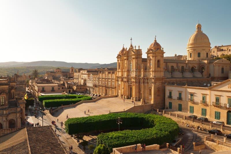 Catedral de Noto foto de stock royalty free