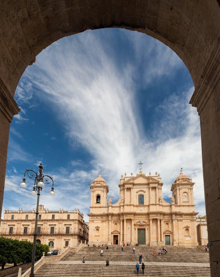 Catedral de Noto, Sicilia foto de archivo