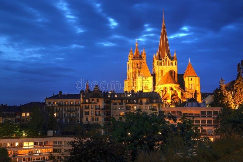 Catedral de Notre Dame de Lausana, Switzerland imagem de stock royalty free