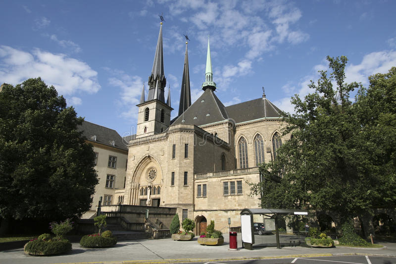 Catedral de Notre Dame de Luxemburgo imagenes de archivo