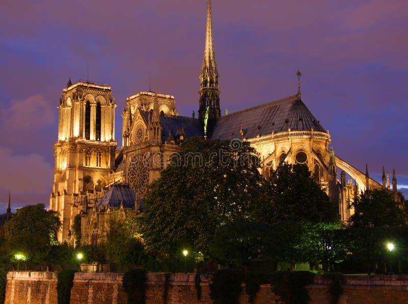 Catedral de Notre Dame em Paris fotografia de stock