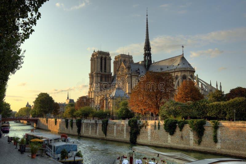 Catedral de Notre Dame en París imágenes de archivo libres de regalías