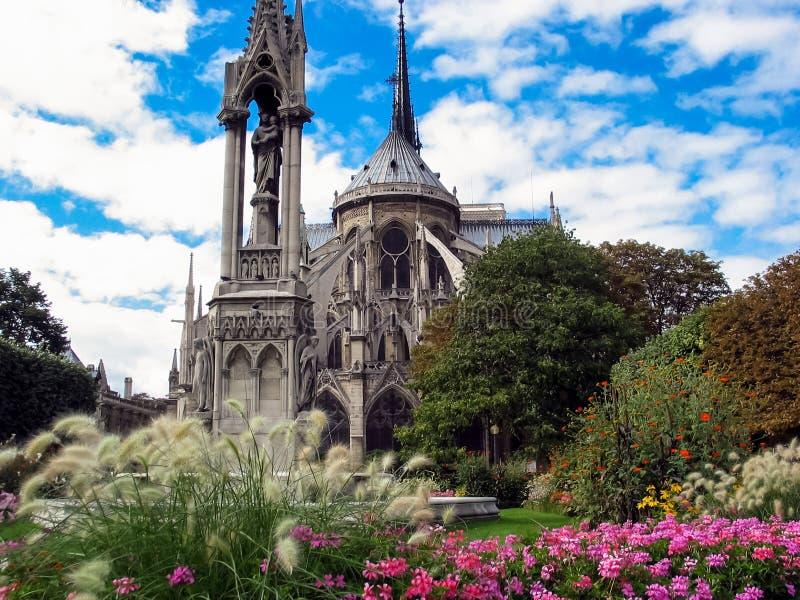 Catedral de Notre Dame en París, Francia fotos de archivo