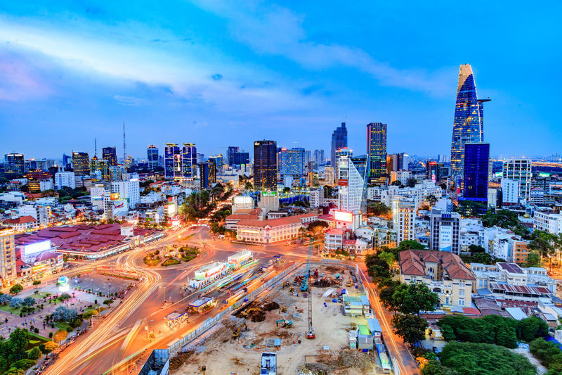 Catedral de Notre Dame en Saigon imagenes de archivo
