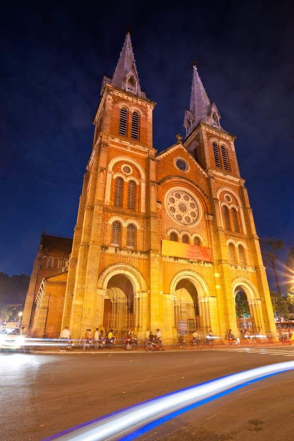 Catedral de Notre Dame, Ho Chi Minh City, Vietnam. imagens de stock royalty free