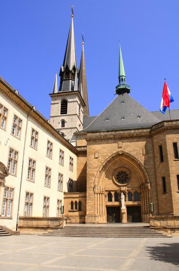 Catedral de Notre Dame, Luxemburgo imagenes de archivo