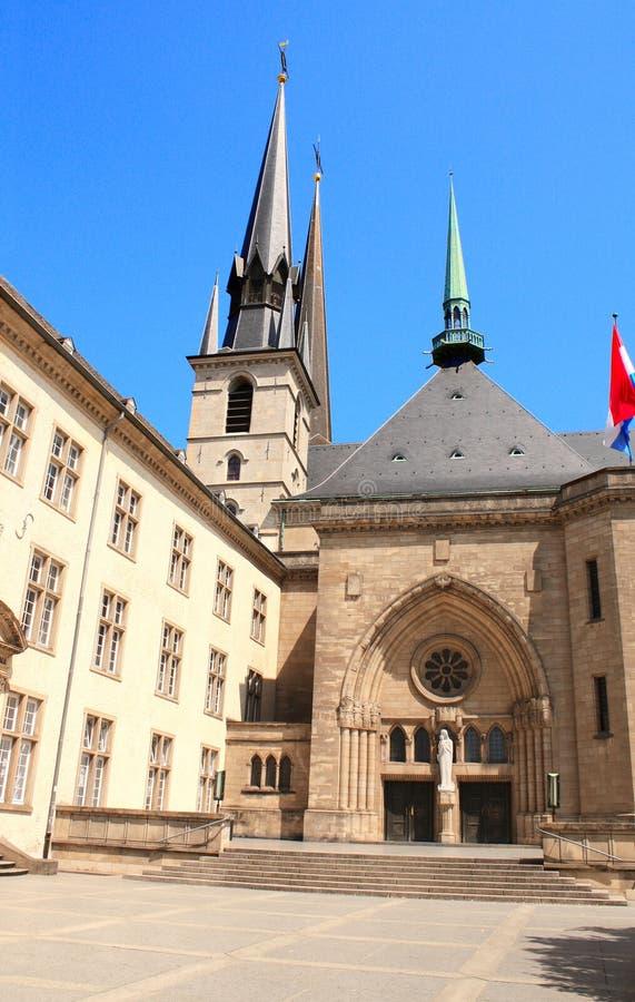Catedral de Notre Dame, Luxemburgo fotos de archivo
