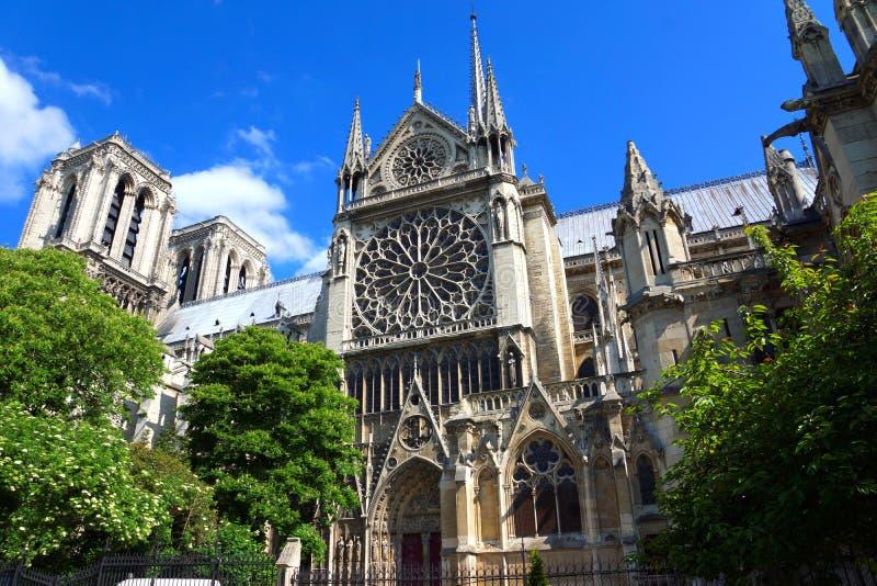 Catedral de Notre Dame de París imágenes de archivo libres de regalías