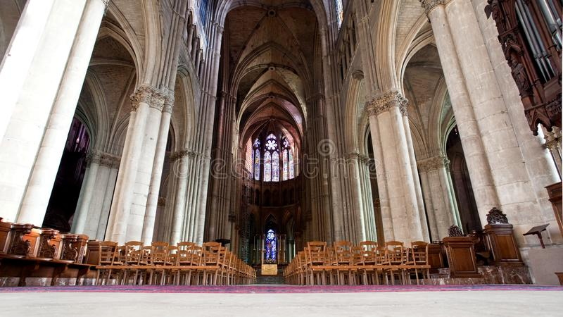 Catedral de Notre Dame, Reims Francia imagen de archivo