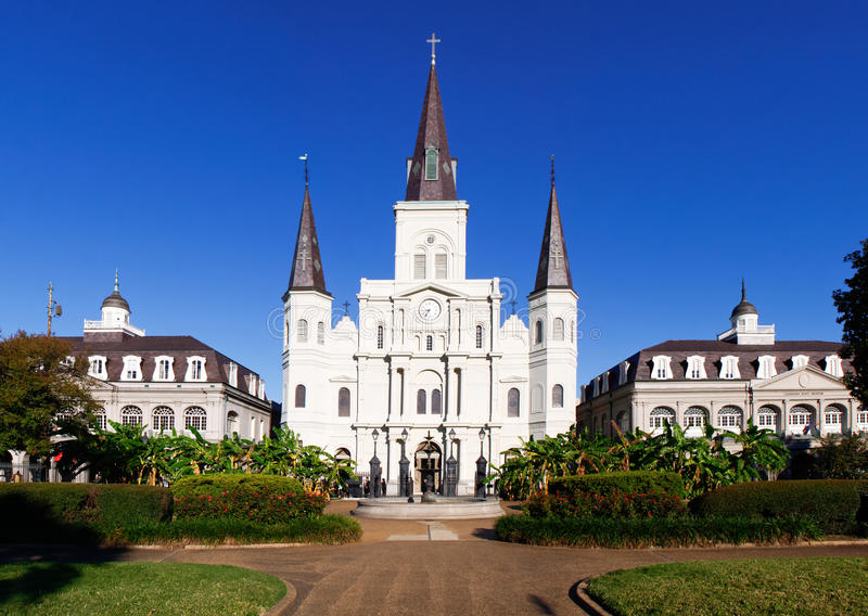 Catedral de Nova Orleães St Louis imagens de stock royalty free