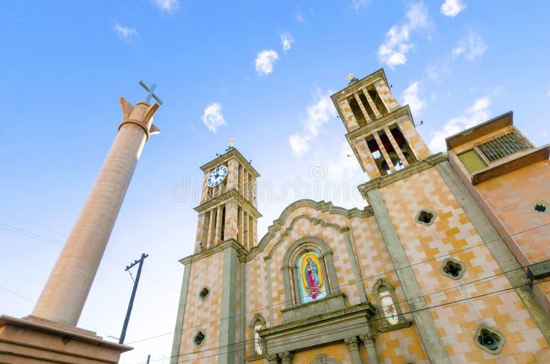 Catedral de Nuestra夫人de瓜达卢佩河,提华纳,墨西哥 免版税库存照片