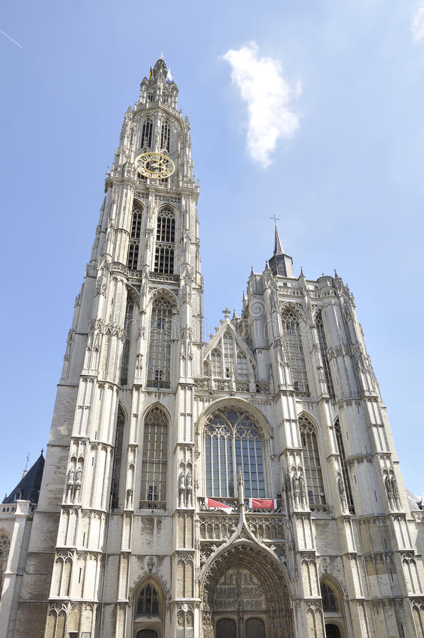 Catedral de nuestra señora, Amberes, Bélgica foto de archivo