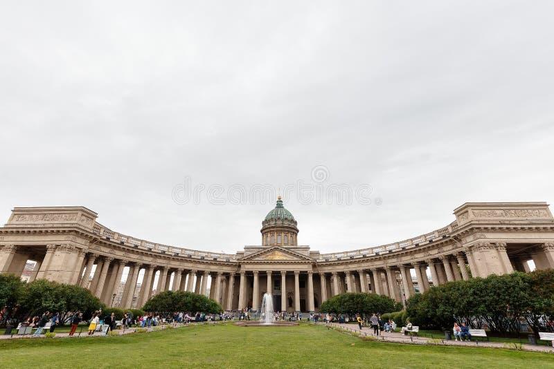 Catedral de nuestra señora de Kazán, el 14 de septiembre de 2016, St Petersburg, Rusia imagenes de archivo