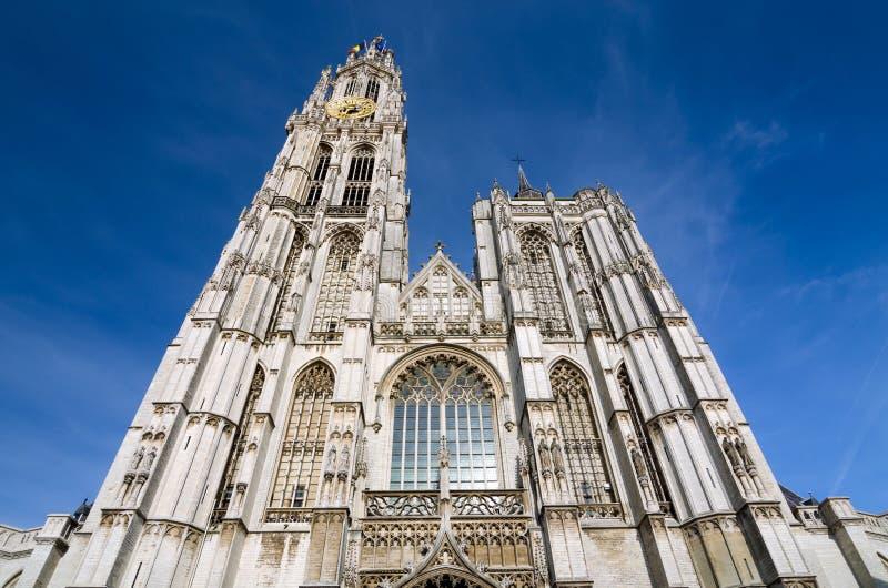 Catedral de nuestra señora en Amberes, Bélgica foto de archivo