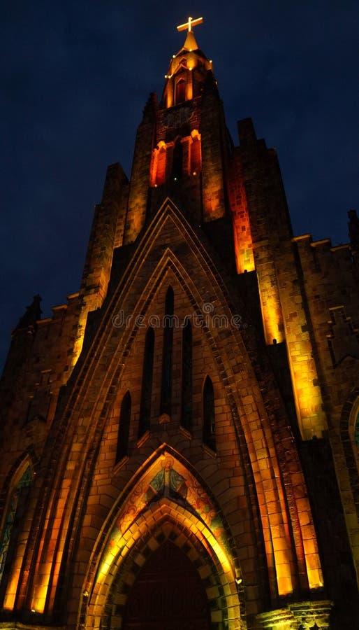 Catedral de nuestra señora de Lourdes en Canela, el Brasil imágenes de archivo libres de regalías