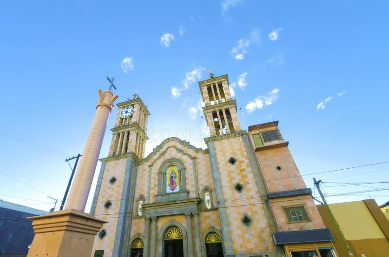 Catedral de Nuestra Senora de Guadalupe, Tijuana, México imagens de stock