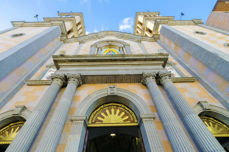 Catedral de Nuestra Senora de Guadalupe, Tijuana, México imagem de stock