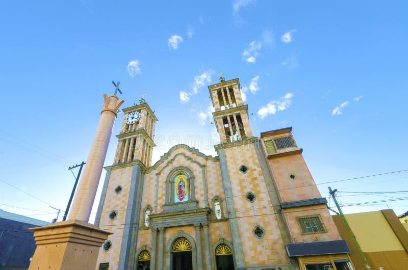 Catedral de Nuestra Senora de Guadalupe, Tijuana, Messico immagini stock