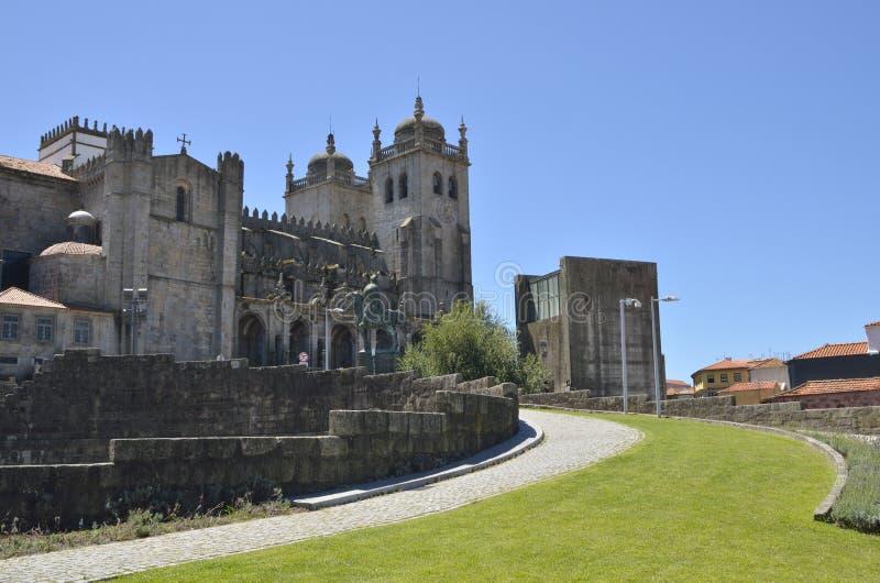 Catedral de Oporto imagen de archivo