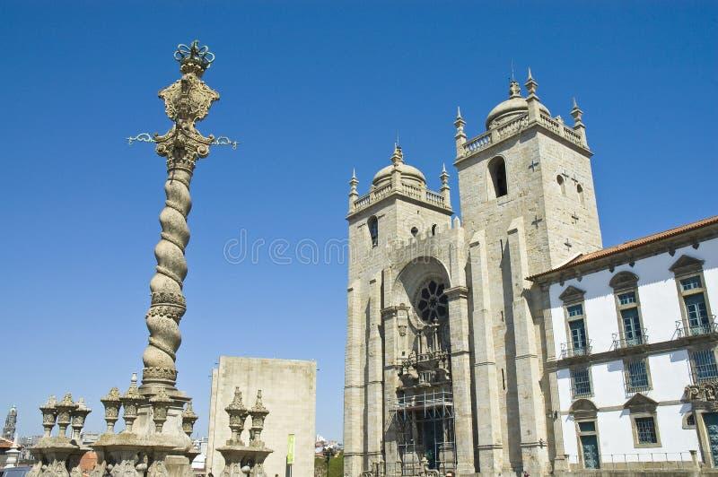 Catedral de Oporto, Portugal fotografía de archivo