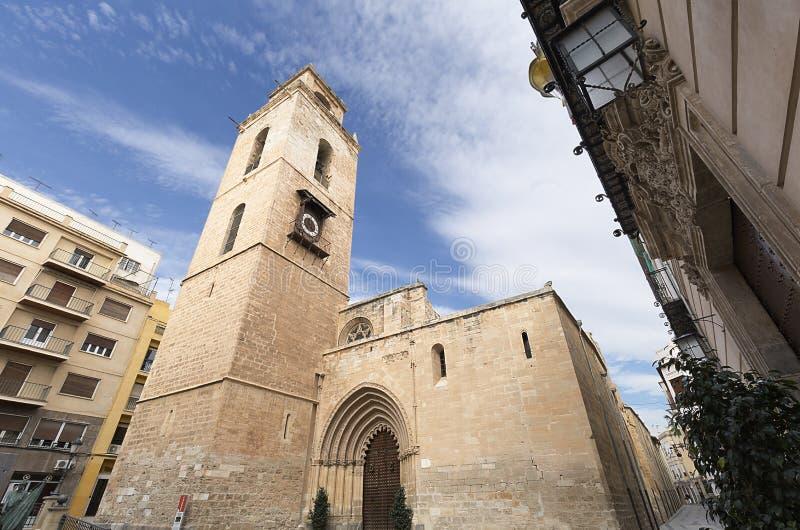 Catedral de Orihuela na província de Alicante, Espanha imagens de stock royalty free