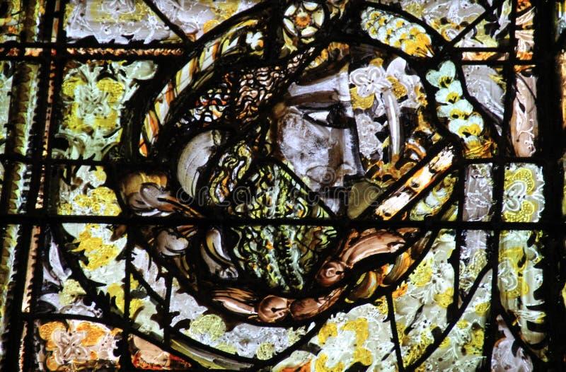 Catedral de Orleans - Ventana de vidrio manchado imágenes de archivo libres de regalías