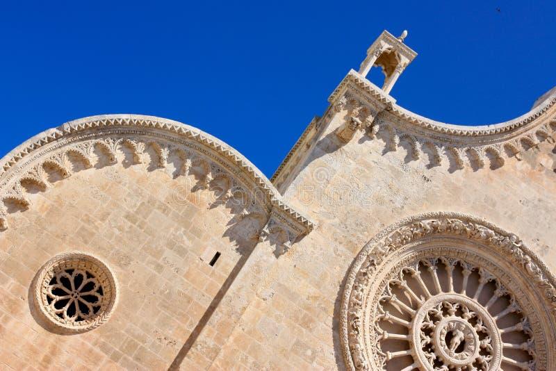 Catedral de Ostuni, detalle foto de archivo
