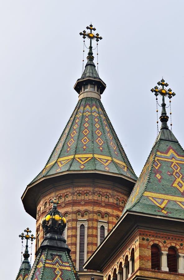 Catedral de Othodox na cidade de Timisoara - Romênia fotos de stock royalty free
