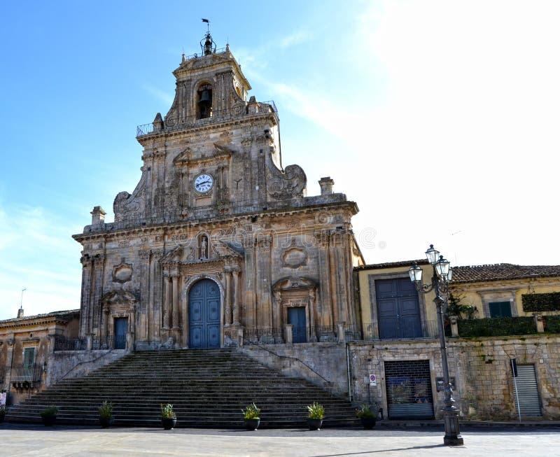 Catedral de Palazzolo Acreide - provincia de Syracuse, Sicilia foto de archivo libre de regalías
