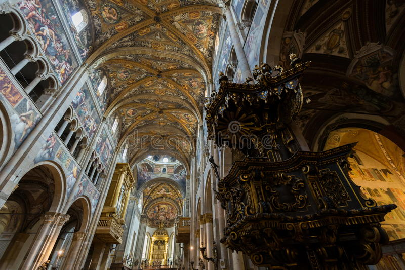 Catedral de Parma foto de stock