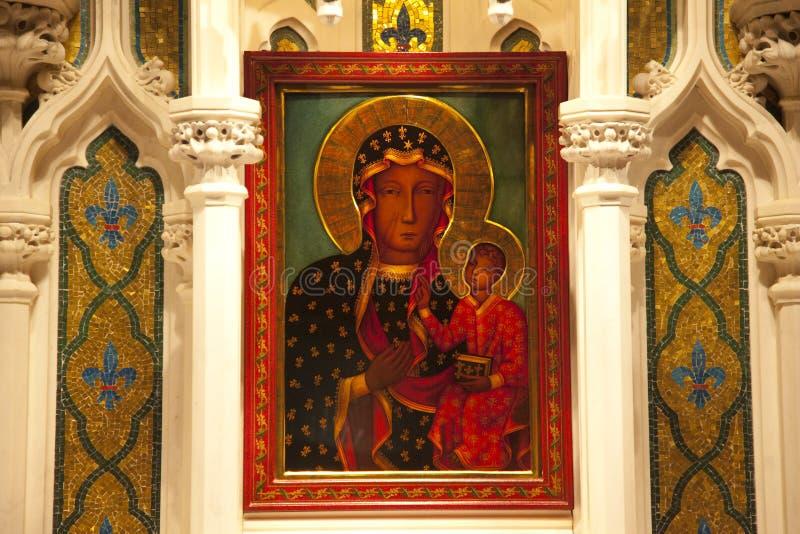 Catedral de Patrick de Saint do ícone de Mary Jesus imagens de stock
