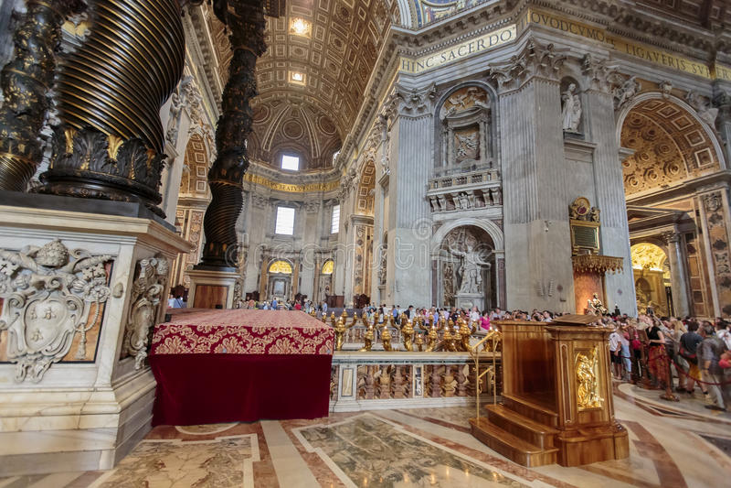 Catedral de Peter de Saint em Vatican fotos de stock royalty free
