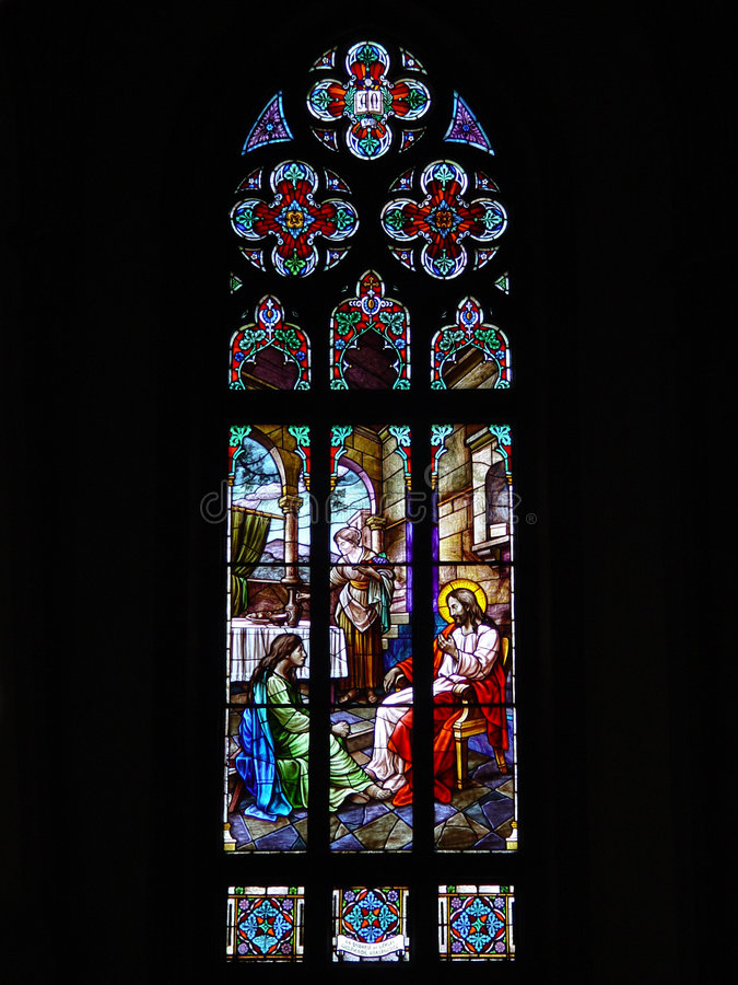 A catedral de Peter´s de Saint stainded o indicador de vidro foto de stock royalty free