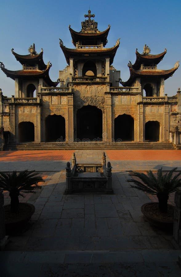 Catedral de Phat Diem, Vietnam foto de archivo libre de regalías