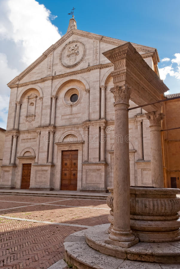 Catedral de Pienza, Toscânia fotografia de stock