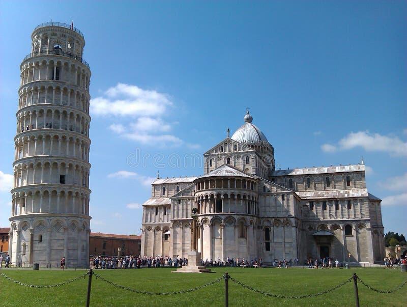Catedral de Pisa e torre de Pisa imagem de stock