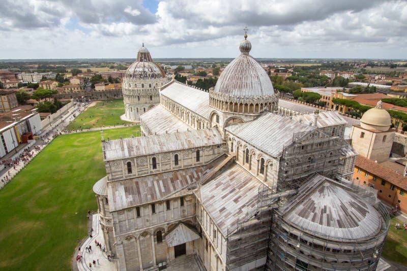 Catedral de Pisa El dei Miracoli Piazza del Duomo de la plaza I fotos de archivo