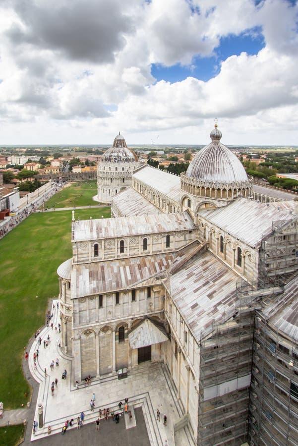 Catedral de Pisa El dei Miracoli Piazza del Duomo de la plaza I imagen de archivo libre de regalías