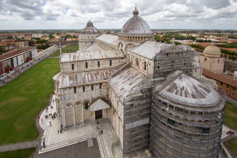Catedral de Pisa El dei Miracoli Piazza del Duomo de la plaza I fotografía de archivo libre de regalías