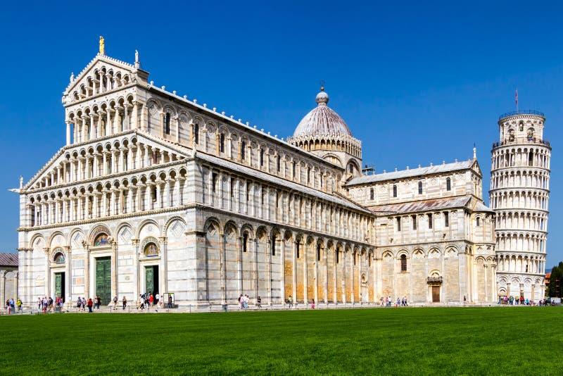 Catedral de Pisa no quadrado dos milagre, Toscânia, Itália fotografia de stock