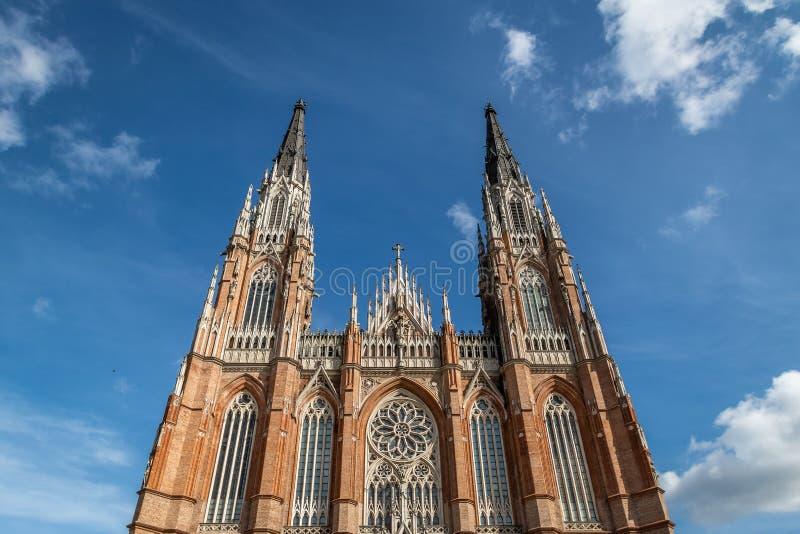 Catedral de Plata do La - La Plata, província de Buenos Aires, Argentina fotografia de stock royalty free