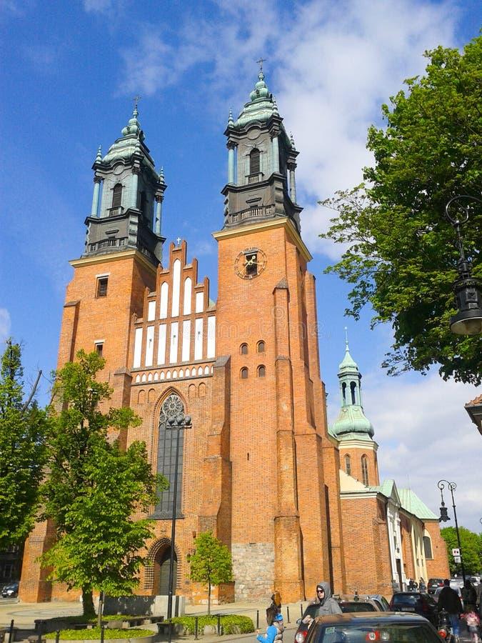 Catedral de Poznán imágenes de archivo libres de regalías
