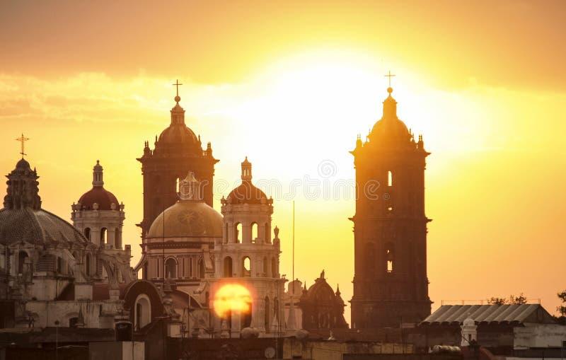 Catedral de Puebla fotografering för bildbyråer